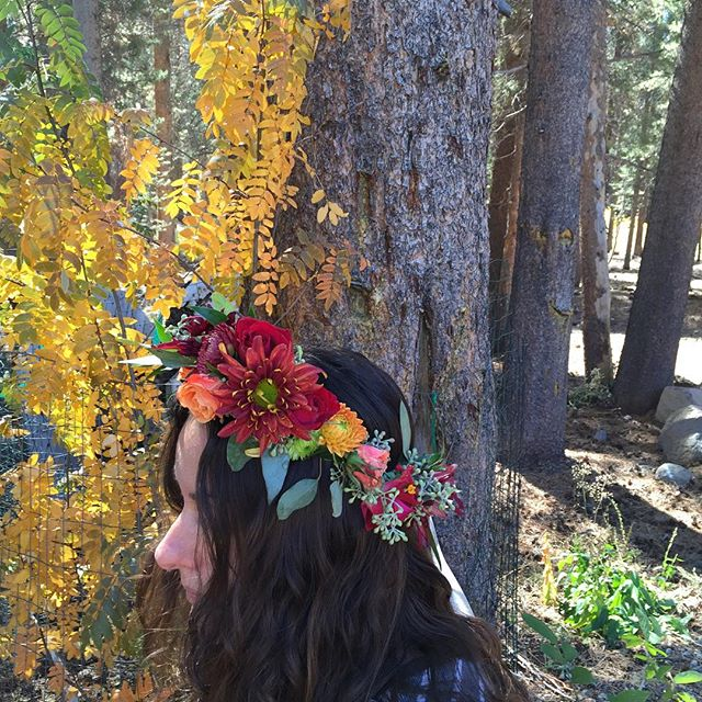 #flower crown #halo #fallcolor #fallwedding #bohowedding #convictlakeresort #october #mammothstories