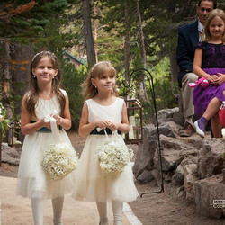 #mammothweddings #mammothmountain #mammothstories #tamarackwedding #forestchapel #flowergirl #succul