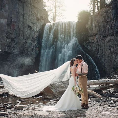 #mammothweddings #mammothstories #rainbowfalls #elopement #redlily #waterfallwedding #cellardoorphot
