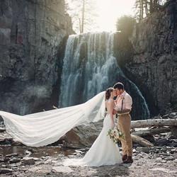 #mammothweddings #mammothstories #rainbowfalls #elopement #redlily #waterfallwedding #cellardoorphot