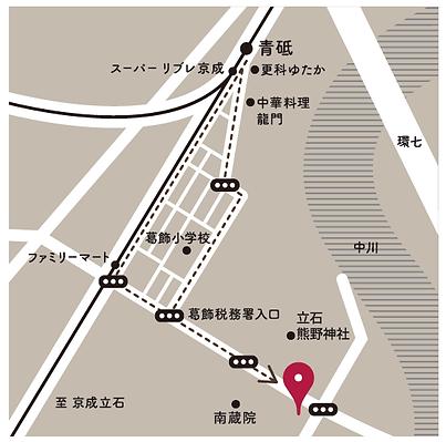 簡易地図_想送庵カノン_東京葛飾区
