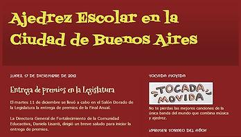 Blog de ajedrez escolar en la ciudad de Buenos Aires