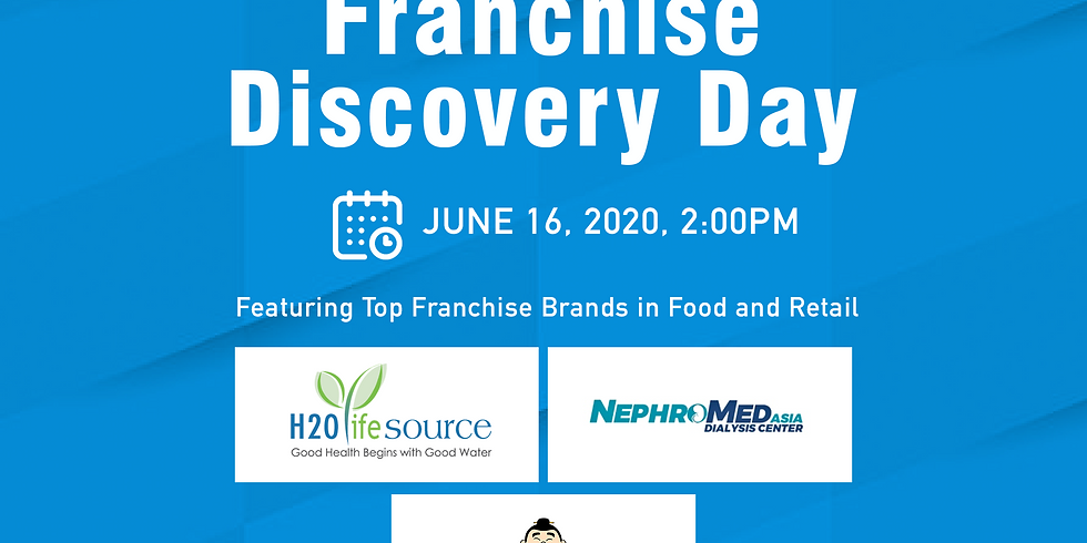FREE Franchise Discovery Webinar with H2O Life Source Water Refilling, NephroMed Dialysis Center, and Mr. Katsu