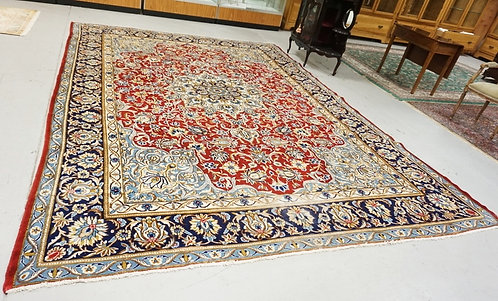ROOM SIZE ORIENTAL RUG MEASURING 13 FT 8 X 10 FT 2 INCHES.