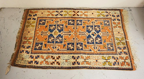 KAZAK ORIENTAL RUG MEASURING 2 FT 7 INCHES X 4 FT 2 INCHES.