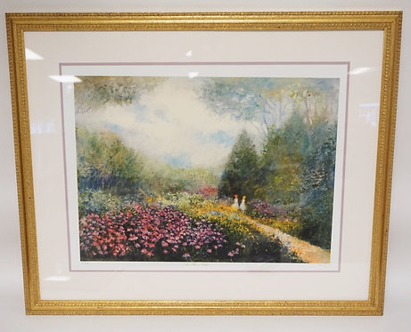 PENCIL SIGNED LIMITED EDITION PRINT TITLED *THE FLOWER PATH* BY JOSEPH DAWLEY. 3