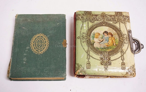 LOT OF 2 ANTIQUE PHOTO ALBUMS CONTAINING A TOTAL OF 42 PHOTOS INCLUDING TINTYPES