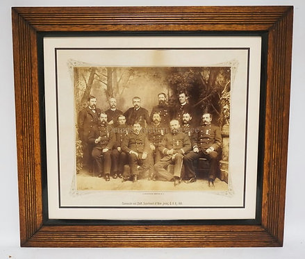 PROFESSIONALLY FRAMED AND MATTED PHOTO OF THE COMMANDER AND STAFF, DEPARTMENT OF