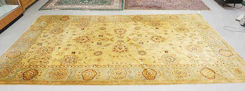 ROOM SIZE ORIENTAL RUG MEASURING 15 FT 5 INCHES X 8 FT 9 INCHES.