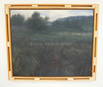 JOHN GUNDELFINGER OIL PAINTING ON CANVAS OF A LANDSCAPE MEASURING 36 X 30 INCHES