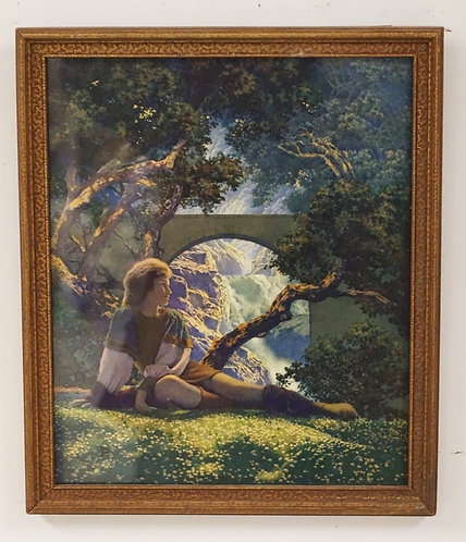 MAXFIELD PARRISH THE PRINCE. ORIGINAL PRINT AND FRAME. 9 1/2 IN X 11 1/2 IN