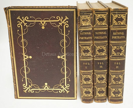 BOOKS: 4 VOLUME SET. *NATIONAL PORTRAIT GALLERY OF DISTINGUISHED AMERICANS*. 183