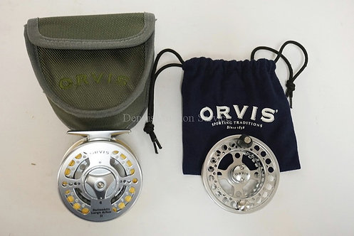 ORVIS BATTENKILL LARGE ARBOR II FLY FISHING REEL WITH EXTRA CARTRIDGE. EXCELLENT