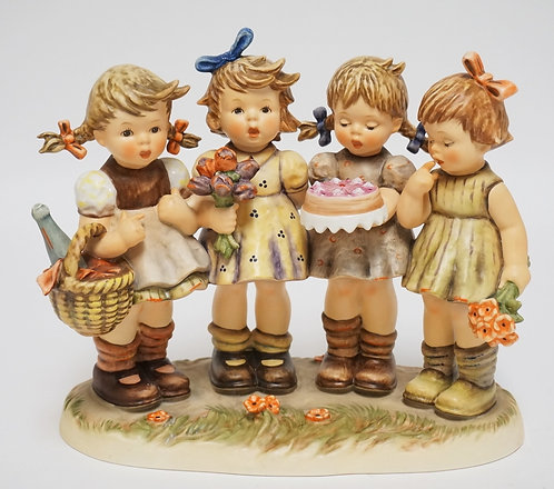 HUMMEL *WE WISH YOU THE BEST* FIGURINE. REPAIRED.