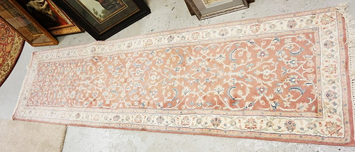 ORIENTAL RUNNER MEASURING 9 FT 9 INCHES X 2 FT 8 INCHES.