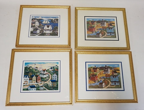 LOT OF 4 STEVE KLEIN PENCIL SIGNED LIMITED EDITION LITHOGRAPHS. EACH PROFESSIONA