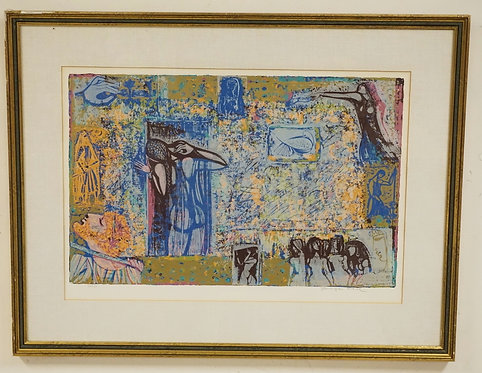 SHRAGA WEIL SERIGRAPH TITLED *THE SONG OF SONGS*. EDITION 27/150. PENCIL SIGNED