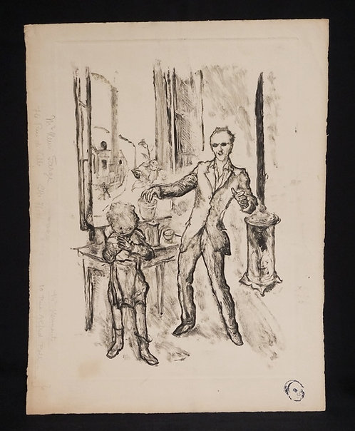 HENRI FARGE (1844-1970) STUDY FOR *POSTER FOR HOUSEHOLD SAFETY* MONOTYPE IN BLAC
