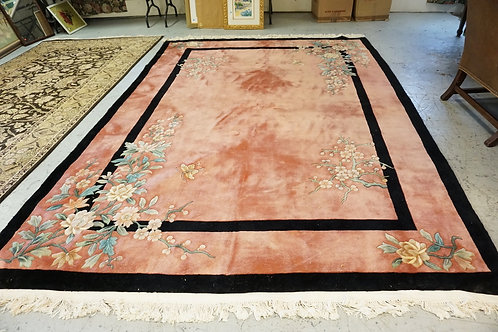 CHINESE SCULPTED ROOM SIZE RUG MEASURING 11 FT 4 INCHES X 8 FT 4 INCHES.