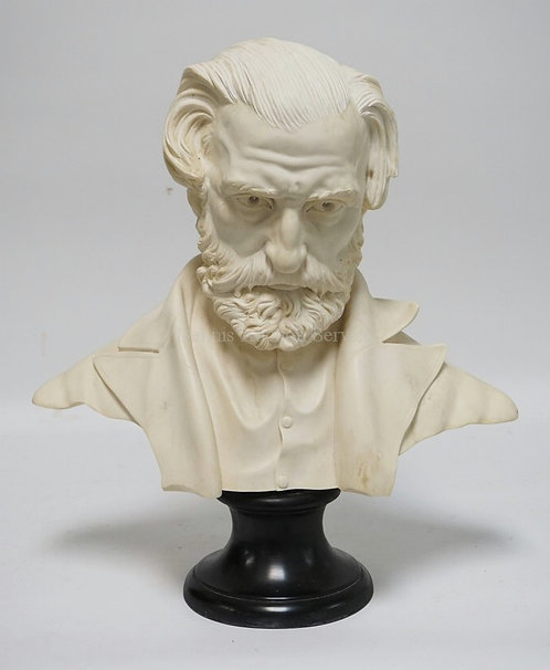 A. SANTINI SCULPTURE OF GIUSEPPE VERDI. 19 INCHES HIGH.