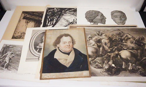 20 PIECE LOT OF ANTIQUE ETCHINGS IN VARYING CONDITIONS.