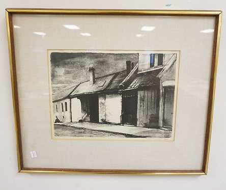 PENCIL SIGNED PRINT BY VICTORIA HUNTLEY. DATED 1964.13 3/4 X 9 3/4 INCHES.