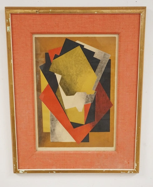JAQUES VILLON COLOR LITHO. PENCIL SIGNED & NUMBERED 147/200. 13 1/2 X 19 INCH IM