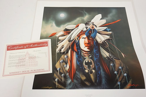 J.D. CHALLENGER *SEEKING THE VISION* SIGNED LMITED EDITION PRINT #594/800.