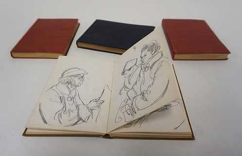 1133_LOT OF 4 SKETCH BOOKS OF WILLIAM SHARP. WILLIAM SHARP WAS A WELL KNOWN SKET