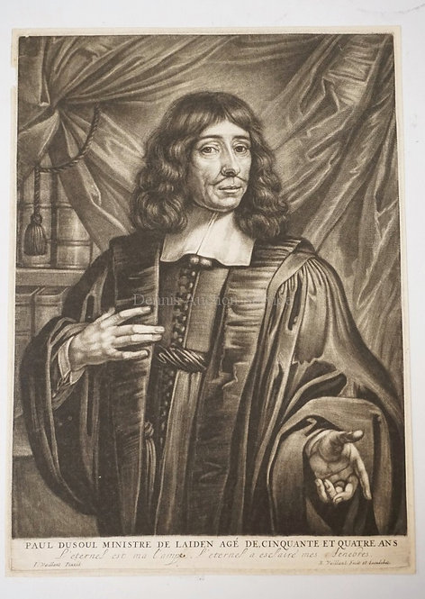 BERNARD VAILLANT (1627?-1675) PAUL DUSOUL MINISTER OF LEIDEN AFTER A PAINTING BY