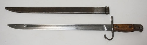 BAYONET WITH SHEATH MEASUING 20 3/4 INCHES LONG.
