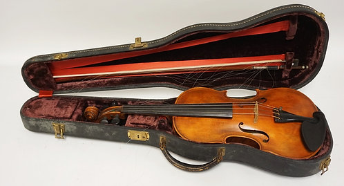 VIOLIN WITH CASE AND BOW.
