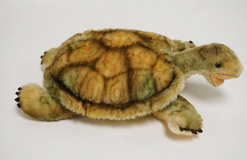 STEIFF TURTLE MEASURING 12 1/2 INCHES LONG.