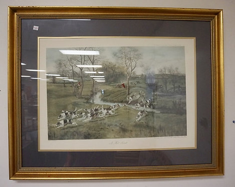 HUNT PRINT *A HOT SCENT* BY  G D ROWLANDSON. IMAGE 25 1/2 X 18 IN