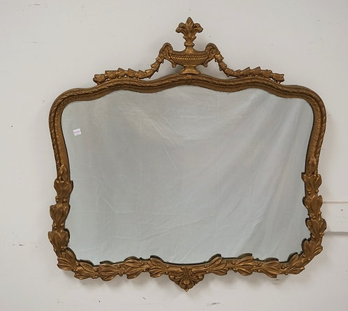 1073_GOLD GILT MIRROR MEASURING 32 X 32 INCHES.