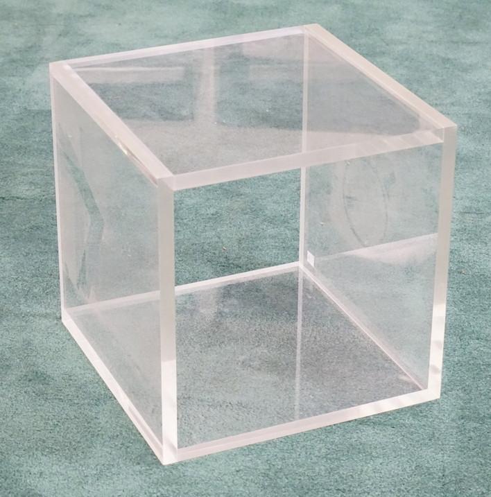 MCM Lucite Cubic Pedestal