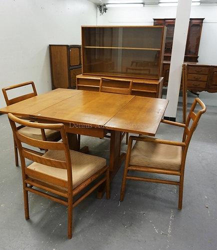 T H ROBSJOHN-GIBBINGS/WIDDICOMB MID CENTURY MODERN 5 PC DINING ROOM SUITE. SOME
