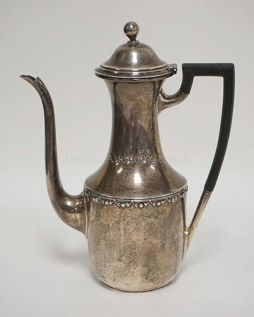 GORHAM STERLING SILVER TEAPOT WITH A WOODEN HANDLE. #6010A. 9.75 TROY OZ. 8 1/2
