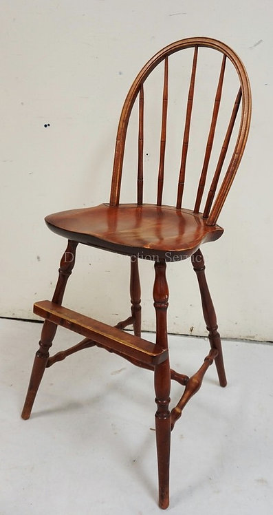 NICHOLS & STONE WINDSOR STYLE HIGH CHAIR MEASURING 38 INCHES HIGH.
