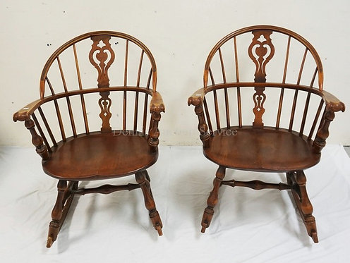 PAIR OF ROCKING CHAIRS BY CONANT BALL.