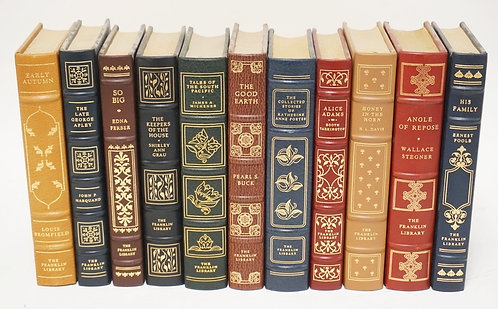 LOT OF 11 FRANKLIN LIBRARY LEATHER BOUND BOOKS.