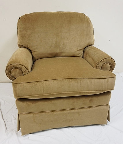 NEW FURNITURE LIQUIDATION BEIGE UPHOLSTERED ARM CHAIR BY BEST HOME FURNISHINGS.