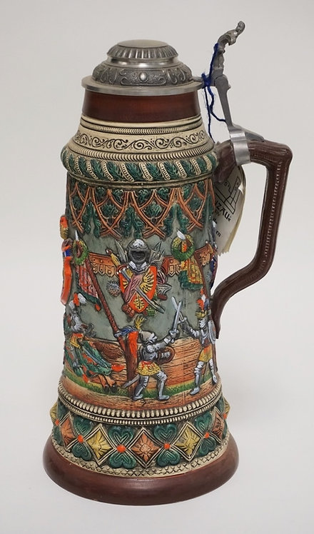 1048_LIMITED EDITION GERMAN STEIN BY THEWALT. #3989. 14 3/4 INCHES HIGH.