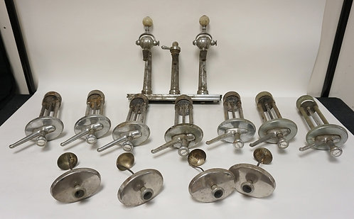 12 PIECE VINTAGE SODA SHOP DISPENSER AND FOUNTAIN PARTS.