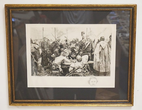 XAVIER F. LE SUEUR ENGRAVING *ZAPOROZHIAN COSSACK ANSWER TO THE TURKISH SULTAN*.
