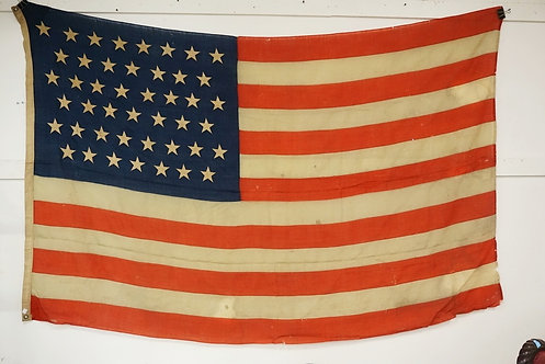 45 STAR AMERICAN FLAG. APPROX 91 X 60 INCHES.
