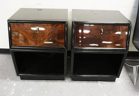 1145_3 PIECES OF *SCENE THREE* MID CENTURY MODERN FURNITURE BY HENREDON. A TALL
