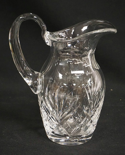 ST LOIUS FRANCE CUT CRYSTAL PITCHER MEASURING 9 3/8 INCHES HIGH.