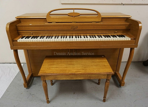 ESTER UPRIGHT PIANO W/BENCH. 57 INCHES WIDE. 37 1/2 INCHES HIGH.