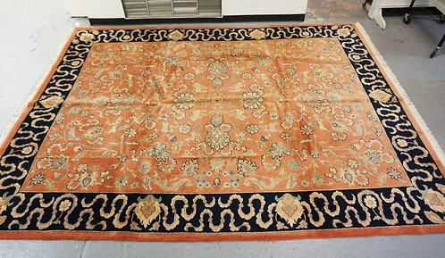 ROOM SIZE ORIENTAL RUG MEASURING 8 FT 9 X 11 FT 9 INCHES.